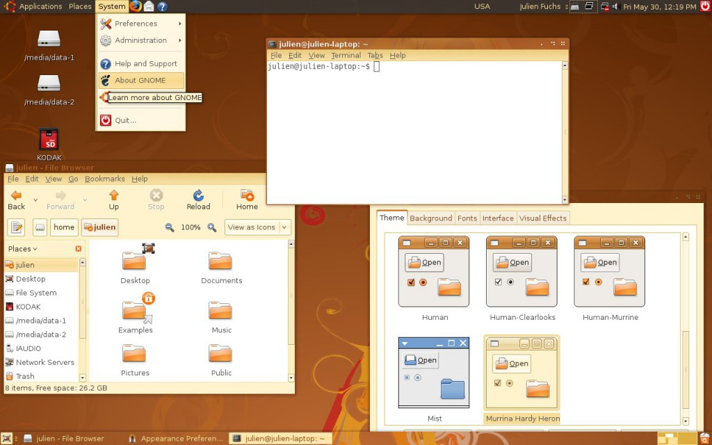 How Ubuntu looked like when I first tried it. Good times. Canonical, what did you do?